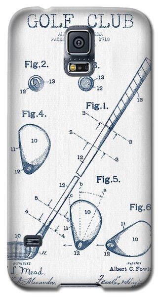 Golf Club Patent Drawing From 1910 - Blue Ink Galaxy S5 Case by Aged Pixel