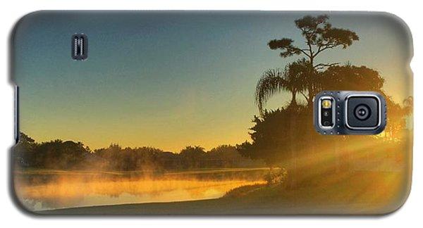 Golf Course Sunrise Galaxy S5 Case