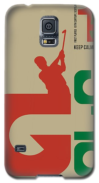 Golf Poster Galaxy S5 Case