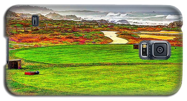 Galaxy S5 Case featuring the photograph Golf Tee At Spyglass Hill by Jim Carrell