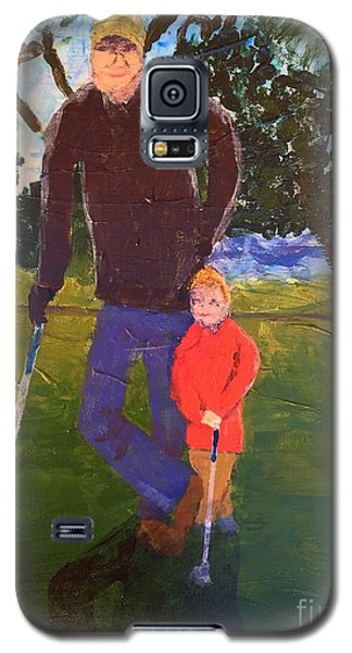 Galaxy S5 Case featuring the painting Golfing by Donald J Ryker III