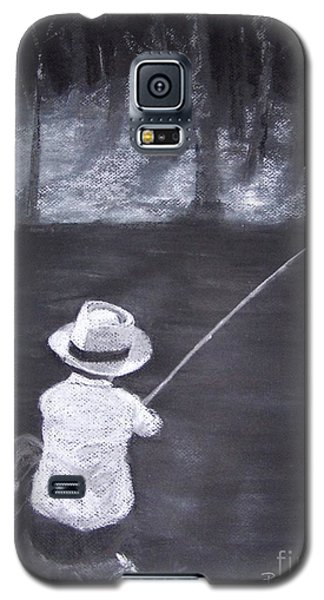 Galaxy S5 Case featuring the drawing Gone Fishin' by Mary Lynne Powers