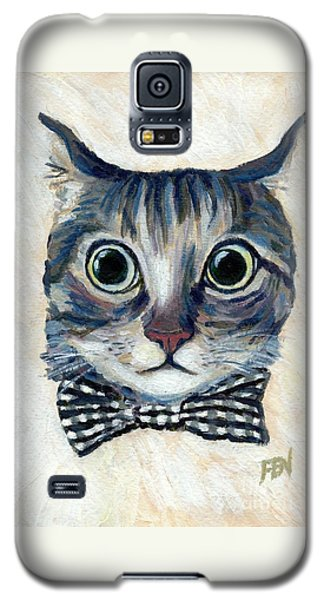 Good Boy Cat With A Checked Bowtie Galaxy S5 Case by Jingfen Hwu