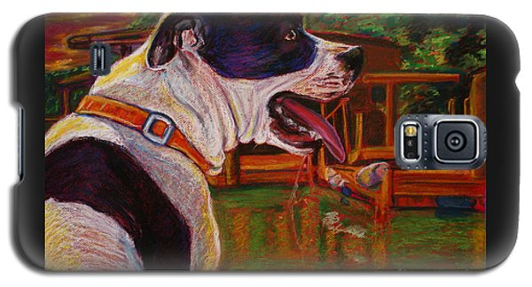 Galaxy S5 Case featuring the painting Good Day On The Boat by D Renee Wilson
