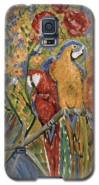 Macaw Galaxy S5 Case - Good Gossip by Patricia Eyre