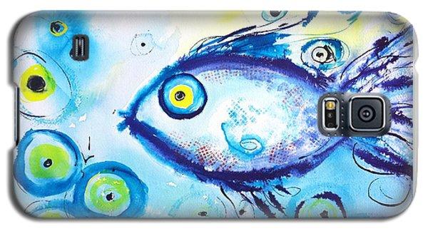 Good Luck Fish Abstract Galaxy S5 Case by Carlin Blahnik