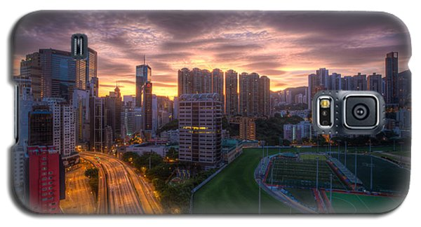 Galaxy S5 Case featuring the photograph Good Morning Hong Kong by Mike Lee