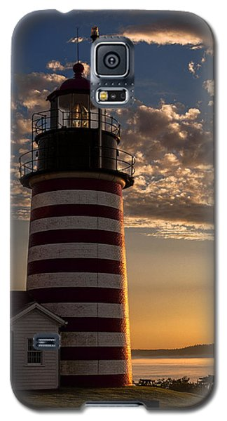 Good Morning West Quoddy Head Lighthouse Galaxy S5 Case by Marty Saccone