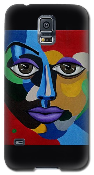 Google Me - Abstract Art Painting - Colorful Abstract Face - Ai P. Nilson Galaxy S5 Case