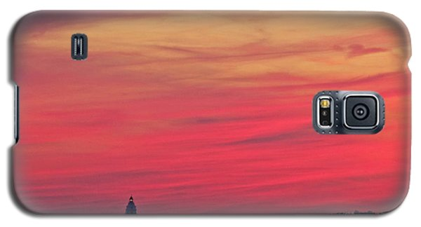 Gorgeous Connectiut Lighhouse Sunset Galaxy S5 Case
