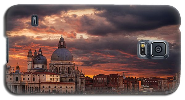 Gorgeous Sunset Over Grand Canal In Venice Galaxy S5 Case by Gurgen Bakhshetsyan