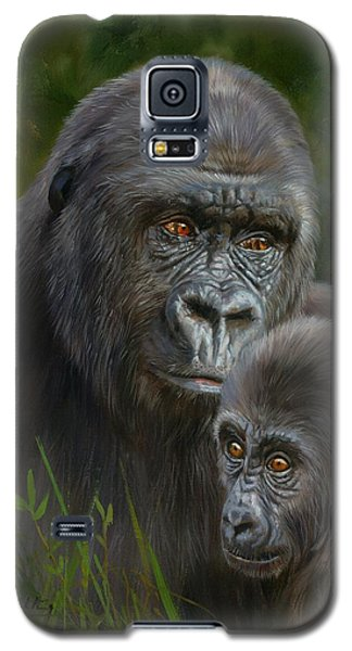 Gorilla And Baby Galaxy S5 Case by David Stribbling