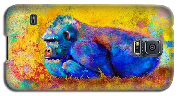 Galaxy S5 Case featuring the painting Gorilla by Sean McDunn