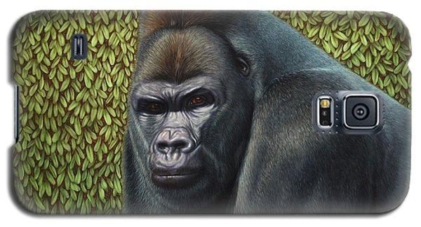 Gorilla Galaxy S5 Case - Gorilla With A Hedge by James W Johnson