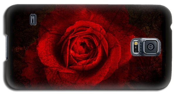 Galaxy S5 Case featuring the digital art Gothic Red Rose by Absinthe Art By Michelle LeAnn Scott