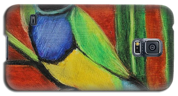 Galaxy S5 Case featuring the painting Gouldian Finch by Jeanne Fischer
