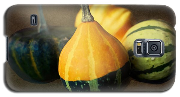 Galaxy S5 Case featuring the photograph Gourds Aglow by Maria Janicki