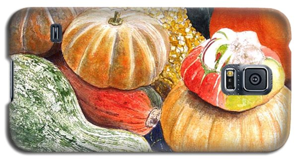 Galaxy S5 Case featuring the painting Gourds by Carol Flagg