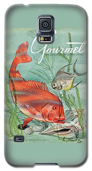 Gourmet Cover Featuring A Snapper And Pompano Galaxy S5 Case by Henry Stahlhut
