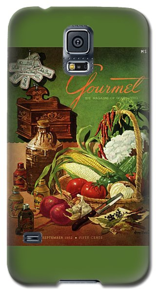 Gourmet Cover Featuring A Variety Of Vegetables Galaxy S5 Case by Henry Stahlhut