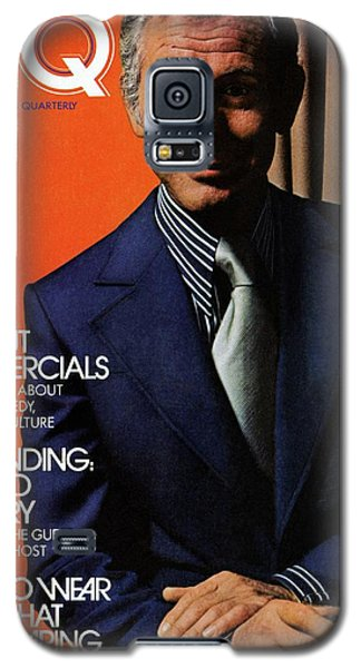 Gq Cover Of Johnny Carson Wearing Suit Galaxy S5 Case by Bruce Bacon