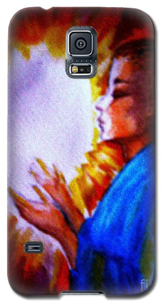 Galaxy S5 Case featuring the painting Grace - 1 by Leanne Seymour