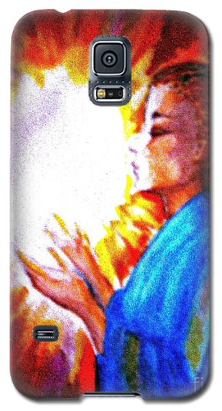 Galaxy S5 Case featuring the painting Grace - 2 by Leanne Seymour