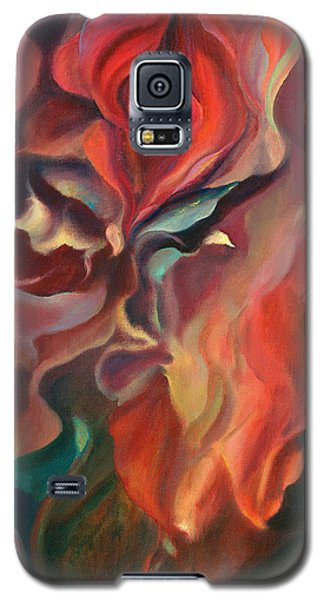 Galaxy S5 Case featuring the painting Grace And Desire - Floral Abstract by Brooks Garten Hauschild