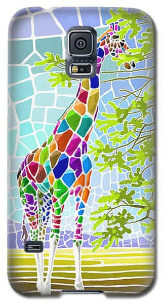 Galaxy S5 Case featuring the painting Graceful by Anthony Mwangi