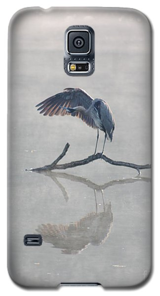 Galaxy S5 Case featuring the photograph Graceful Heron by Anita Oakley