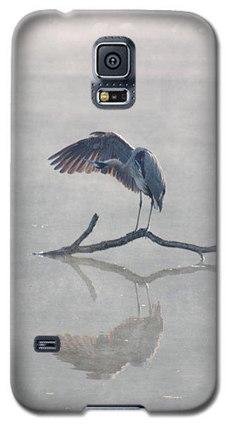 Graceful Heron Galaxy S5 Case by Anita Oakley