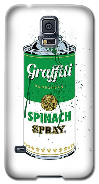 Graffiti Spinach Spray Can Galaxy S5 Case