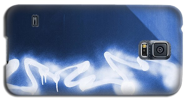 Graffiti Spray Blue Galaxy S5 Case
