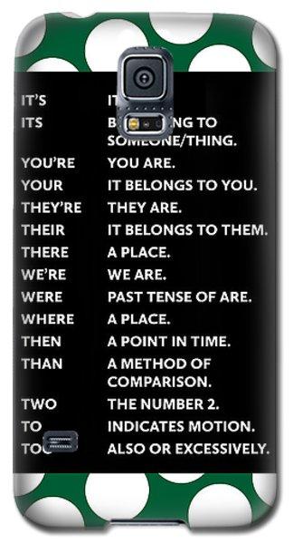Grammar Rules Galaxy S5 Case