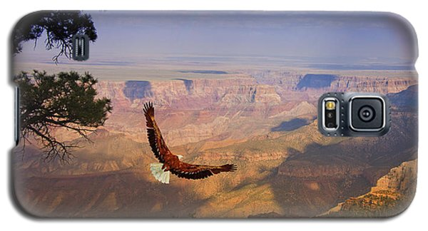 Galaxy S5 Case featuring the digital art Grand Canyon Eagle by Bruce Rolff