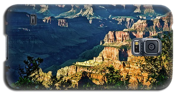 Galaxy S5 Case featuring the photograph Grand Canyon  Golden Hour On Angel Point by Bob and Nadine Johnston