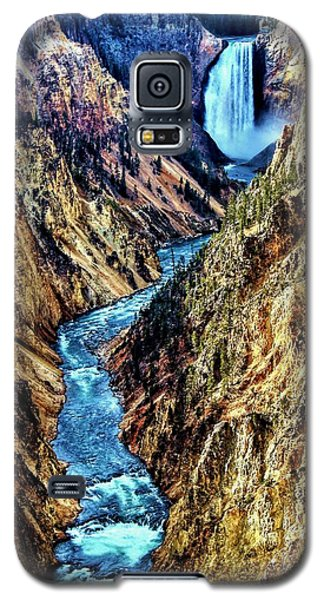 Galaxy S5 Case featuring the photograph Grand Canyon Of The Yellowstone by Benjamin Yeager