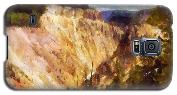 Galaxy S5 Case featuring the painting Grand Canyon Of Yellowstone 2 by Kai Saarto