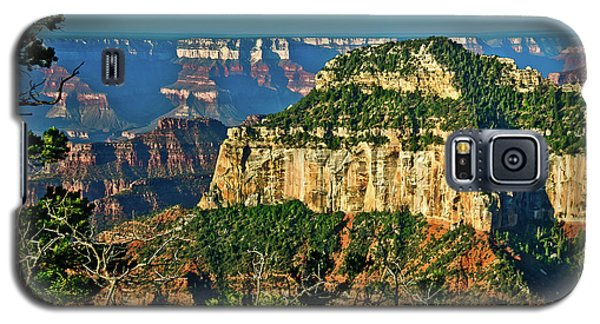 Galaxy S5 Case featuring the photograph Grand Canyon Peak Angel Point by Bob and Nadine Johnston