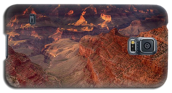 Galaxy S5 Case featuring the photograph Grand Canyon Sunset by James Bethanis