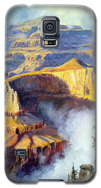 Galaxy S5 Case featuring the painting Grand Canyon View by Lee Piper