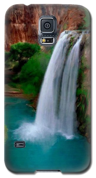 Galaxy S5 Case featuring the painting Grand Canyon Waterfalls by Bruce Nutting