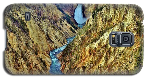 Galaxy S5 Case featuring the photograph Grand Cayon Of The Yellowstone River by Benjamin Yeager