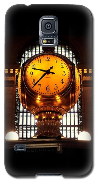 Grand Old Clock At Grand Central Station - Front Galaxy S5 Case by Miriam Danar