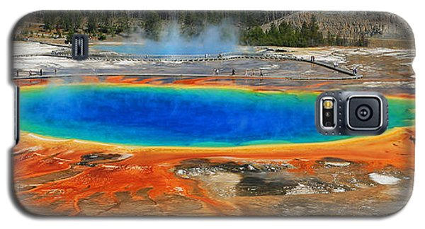 Grand Prismatic Spring Galaxy S5 Case by Clare VanderVeen