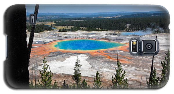 Grand Prismatic Spring From Hillside Galaxy S5 Case by Debra Thompson