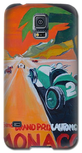 Galaxy S5 Case featuring the painting Grand Prix by Julie Todd-Cundiff