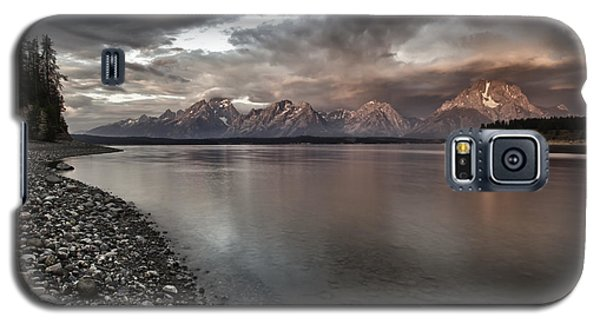 Grand Teton Mountain Range In  Grey And Pink Morning Sunlight Galaxy S5 Case