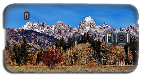 Galaxy S5 Case featuring the photograph Grand Teton Panorama by Benjamin Yeager