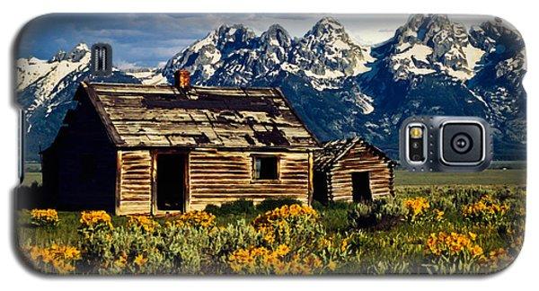 Grand Tetons Cabin Galaxy S5 Case by John Haldane
